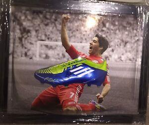 Signed Luis Suarez Liverpool Football Boot Display Barcelona Ajax Uruguay