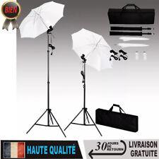 Ensemble d'Eclairage de Studio Lampes Trépieds et Parapluies Photo Kit Lumière