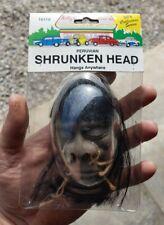 Vintage New Old Stock Hanging Peruvian Shrunken Head Rear View Mirror Rat Rod