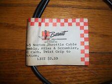 NOS Barnett Norton Throttle Cable Assembly Atlas + Scrambler dual Carb 34-5