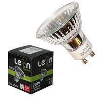 10 x GU10 50w or 35w - 35w Eco = 50w Halogen spot light bulbs 220-240v 50mm Dia