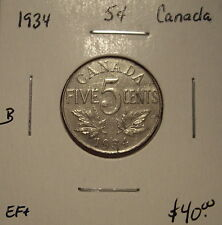 B Canada George V 1934 Five Cents - EF+
