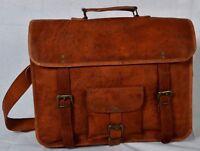 Brand New Men Leather Messenger Shoulder Satchel Laptop Briefcase Bag Crossbody