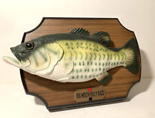 1999 Big Mouth Billy Bass Singing Fish 2 Songs Take Me to the River & Dont Worry