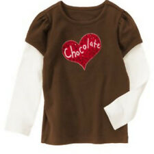 NWT GYMBOREE GIRLS SIZE 6 SWEET TREATS L/S CHOCOLATE HEART BROWN TOP SHIRT