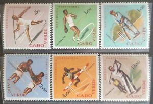 159. CAPE VERDE 1962 SET/6 STAMPS SPORTS, CRICKET, BOXING, GOLF. MNH