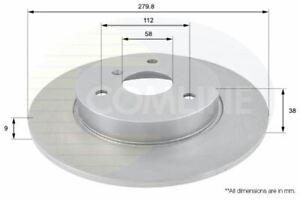 FOR SMART CROSSBLADE 0.6 L COMLINE FRONT COATED BRAKE DISCS ADC1607