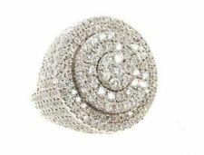925 Silver 14K White Gold Over Round VVS1 Diamond Men's Wedding Pinky Band Ring