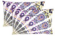 1 Paire Mandala Indien Imprimé Oreillers Taie D'Oreiller en Coton dessus Lit