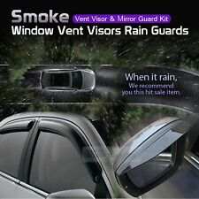 Smoke Window Vent Visors Side Mirror Rain Guards 6P For KIA 2003-2009 Sorento