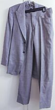 Prada Italy Gray Wool Silk 2pc Suit Jacket Blazer Pants Men's Size 38R EUR 48R