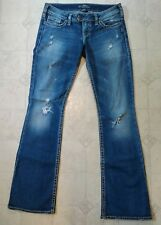 Silver Jeans Tuesday Bootcut Medium Wash Distressed Womens Jeans Size 29/33