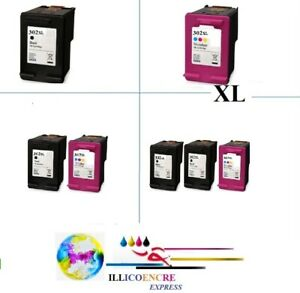 Compatible Ink Cartridges HP302 HP 302 XL Black/Colours Officejet 3834