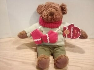 Hallmark Teddy Mittens Bean Bag Plush 100 Year Anniversary of the Teddy Bear.
