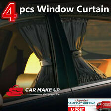 4xpcs Universal Black Removable Car Sun Shade car Curtain car Window Curtain