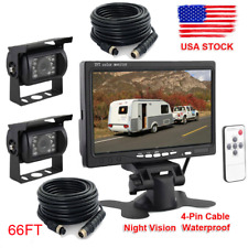 "7"" Monitor Reversing Truck Bus Motohome Camera Trailer Parking Security System"
