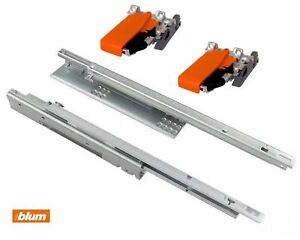 BLUM Tandem runners 550F - Single extension - up to 30 kg - Sizes 300mm-600mm