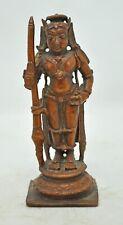 Original Old Antique Copper Goddess Parwati Idol Figurine Museum Quality