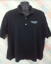 Bobby Jones Collection Mens XL Golf/Polo Black Fallen Oak Logo Cotton   A41