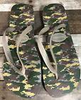 Havaianas Digital Camo Flip Flops Sandal Green Gray Camouflage Men's 45-46 US 13