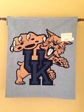 University of Kentucky UK Wildcat Logo Woven Tapestry Wall Hanging Banner NEW