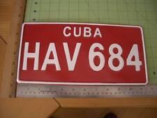 Cuba Car License Plate Replica t shirt caribbean jamaica vacation cruise map