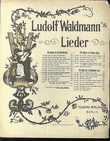 """"""" Die Schuhe geflickt u. d. Beutel gespickt """" L. Waldmann , alte Noten übergroß"""