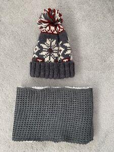 Zara Boys Hat And Scarf Set