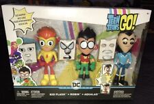 Teen Titans Go Kid Flash, Robin & Aqualad Face-swappers Figure 3 Pack Vhtf DC WB