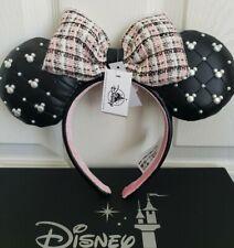 Disney Minnie Ears Tweed And Pearl Ears Headband NWT
