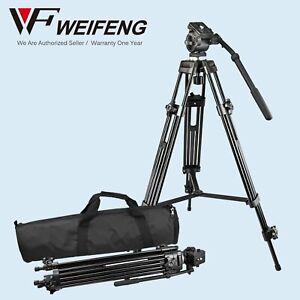 Pro Tripod Weifeng (Fancier) WF-717 + Fluid Video Pan Head 1/4″ 3/8″ for DV DSLR