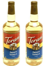 2 TORANI FRENCH VANILLA SYRUP FOR COFFEE 1 LITER (33.8 FL OZ)