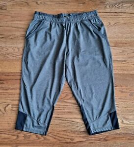 Under Armour Heatgear Running Athletic Cropped Sweat Pants Women's Size L Gray