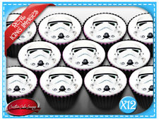 Star Wars Edible Icing Image Cupcake Cake Toppers Birthday Party Decoration