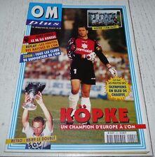 FOOTBALL OM PLUS N°220 1996 OLYMPIQUE MARSEILLE KÖPKE OM 1996-1997 FA ILE ROUSSE