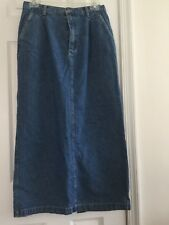 Cherokee Vintage Ladies' Jean Skirt Size 10 Made in Hong Kong 100% Cotton