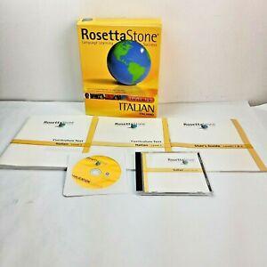 Rosetta Stone Italian Level 1 & 2 Set with Audio Companion for PC, Mac