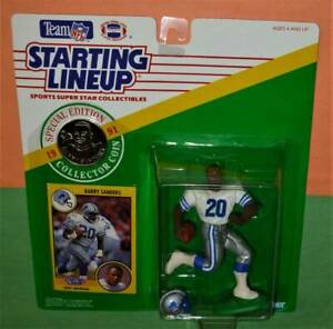 1991 BARRY SANDERS 2nd Detroit Lions NM/MINT *FREE_s/h* Starting Lineup w/ coin