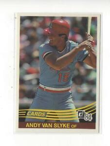 1984 Donruss #83 Andy Van Slyke RC Rookie Cardinals Pirates