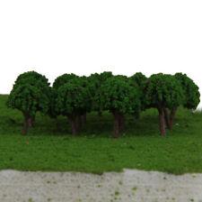 50 Plastic Green Trees Model Train Railway Garden Road Scenery Z T Scale 3cm