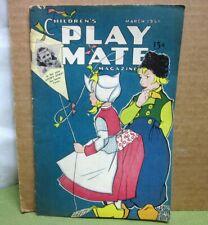 Children'S Playmate Magazine 1951 Tale of Peter Pig paper-dolls Polkadot Rain Og