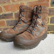 HAIX BROWN LEATHER HIGH LIABILITY DESERT COMBAT BOOTS -British Army UK 10M EU 45
