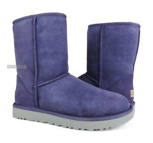 UGG Classic Short II Purple Sage Suede Fur Boots Womens Size 9 ~NIB~