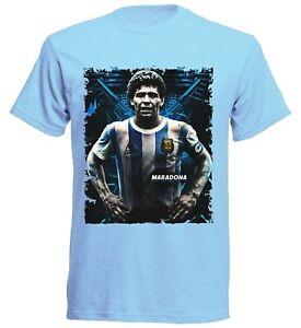 Diego Maradona T-Shirt Fußball Dios 10 Diego Sky-2