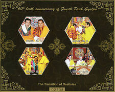 Bhutan 2015 MNH 4th Druk Gyalpo King Jigme Wangchuck 60th Ann 4v M/S I Stamps