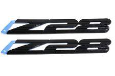 """OEM NEW """"Z28"""" Emblem Badge Front Fender Right & Left Black 93-02 Camaro 10139552"""