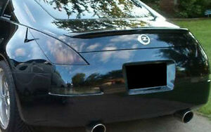 Fits 03-08 Nissan 350z vinyl tail light and reverse tint covers smoked