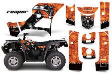 Atv Graphics Kit Decal Sticker Wrap For Bennche Grey Wolf 500/700 Reaper Orange