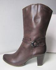 Tamaris halbhohe Stiefel Stiefeletten braun mocca Gr 40 boots bootee brown 3/4