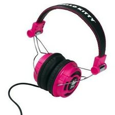 HELLO KITTY Pink Black HEADPHONES Audio Foldable Over the Ear Stereo DJ Style